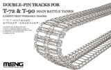 Single-Pin Tracks for T-72 & T-90 Main Battle Tanks (Cement-Free)