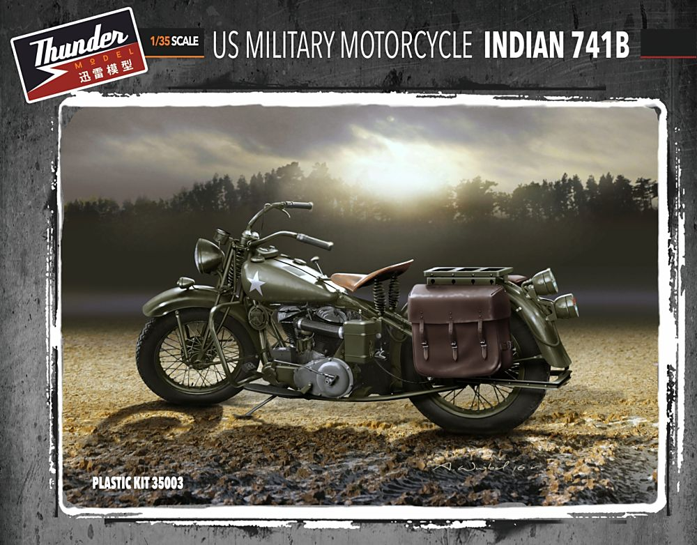 US Military Motorcycle Indian 741B (1+1)