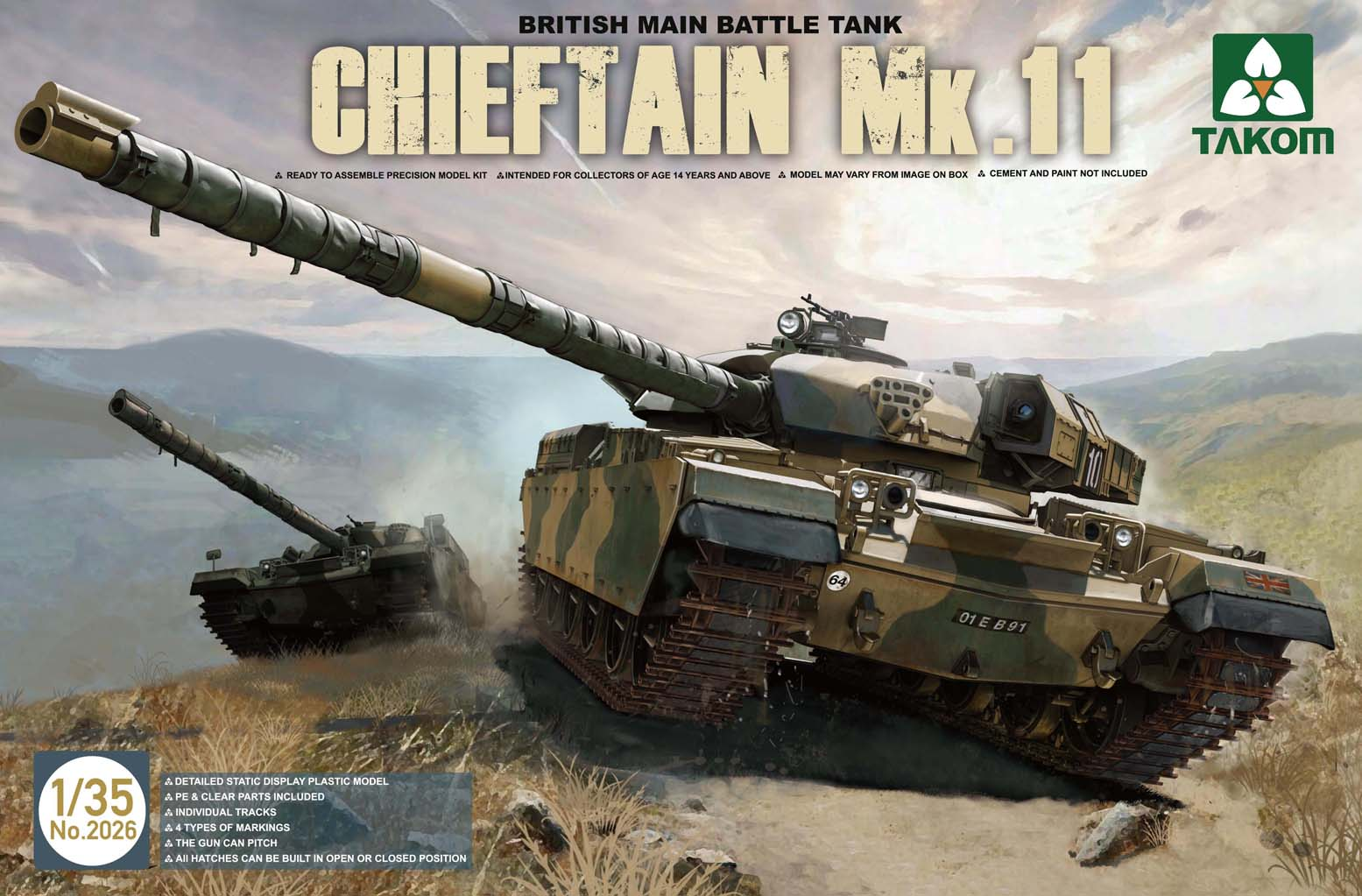 British Main Battle Tank Chieftain Mk.11