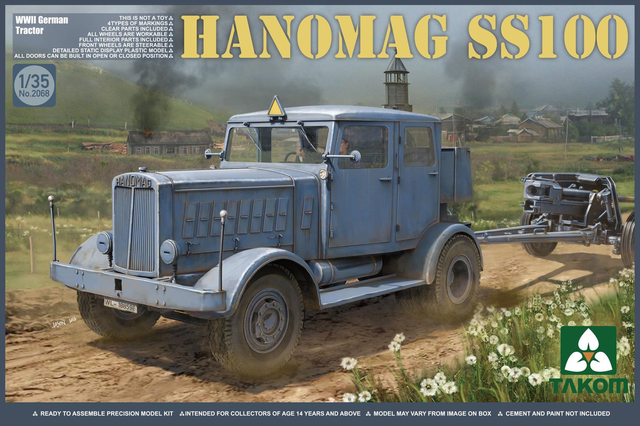 WWII German Tractor Hanomag SS100