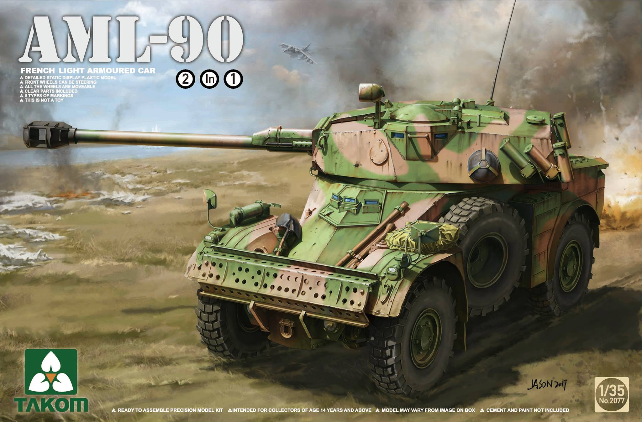 French Light Armoured Car AML-90 (2 in 1)