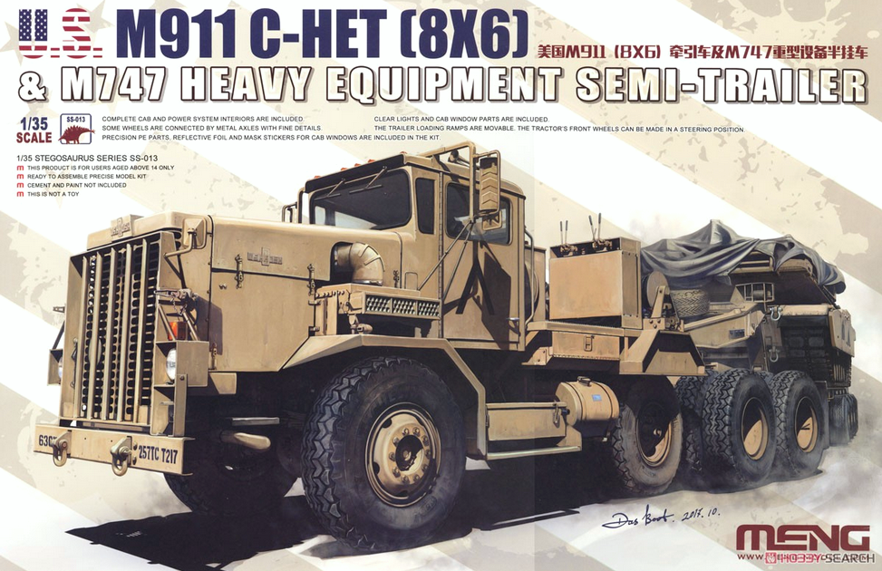 M911 C-HET (8X6) & M747 Heavy Equipment Semi-Trailer