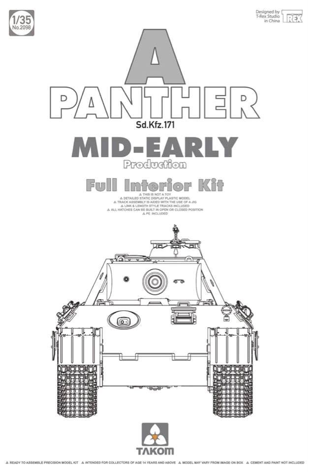 WWII German Tank Sd.Kfz.171 Panther A - Mid-early w/Full Interior