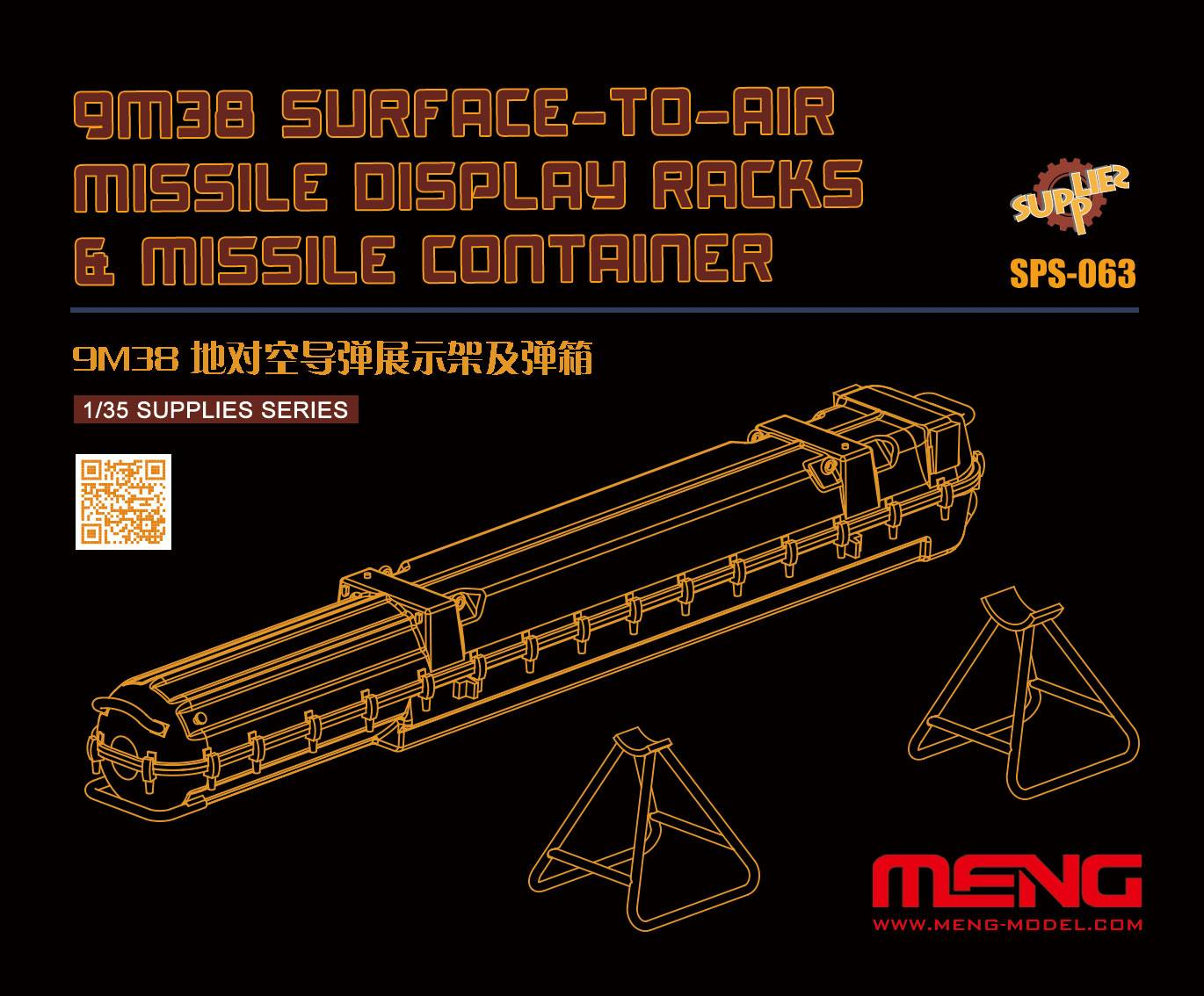 9M38 Surface-to-air Missile Display Racks & Missile Container (Resin)