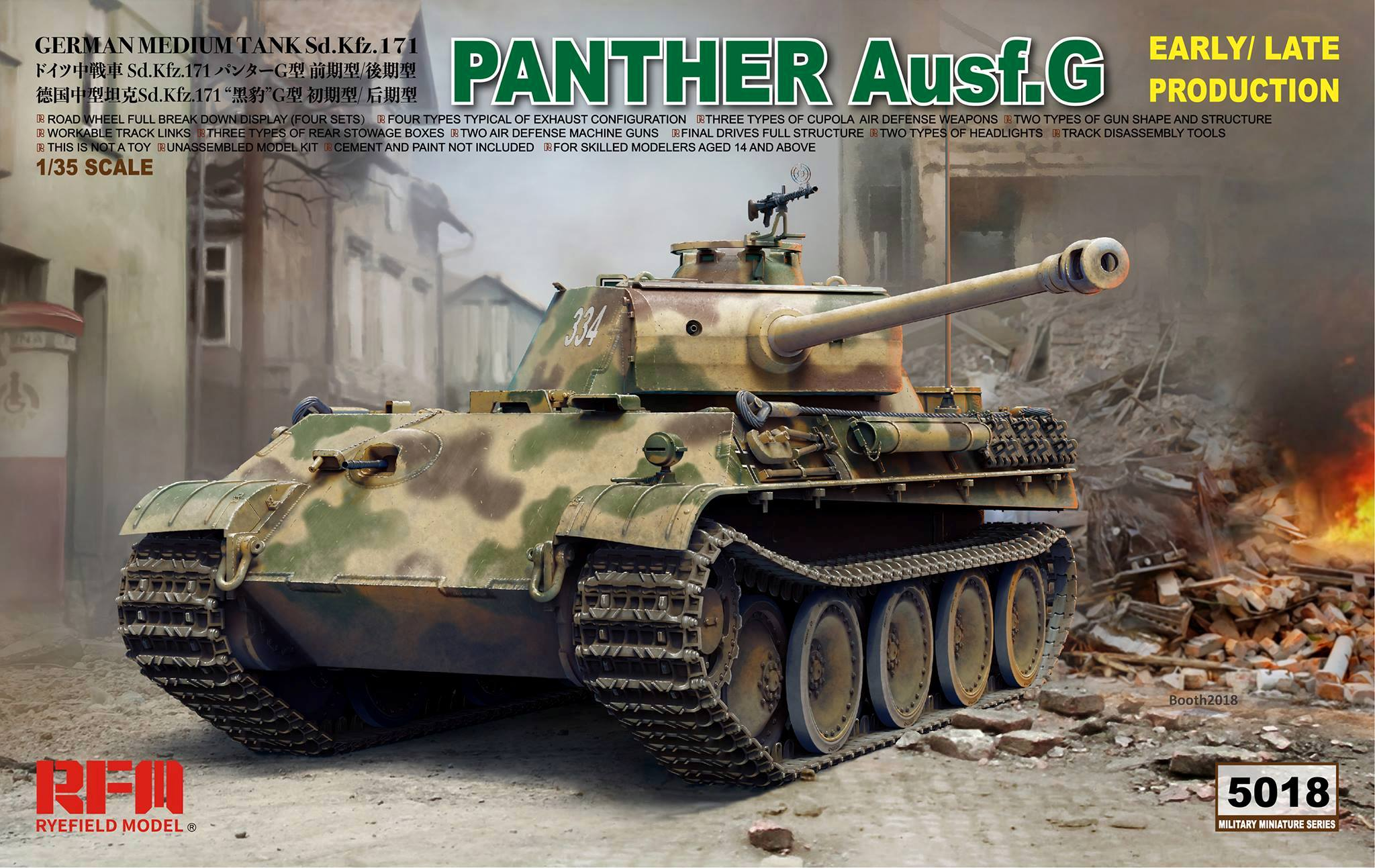 Sd.Kfz 171 Panther Ausf.G Early/Late production