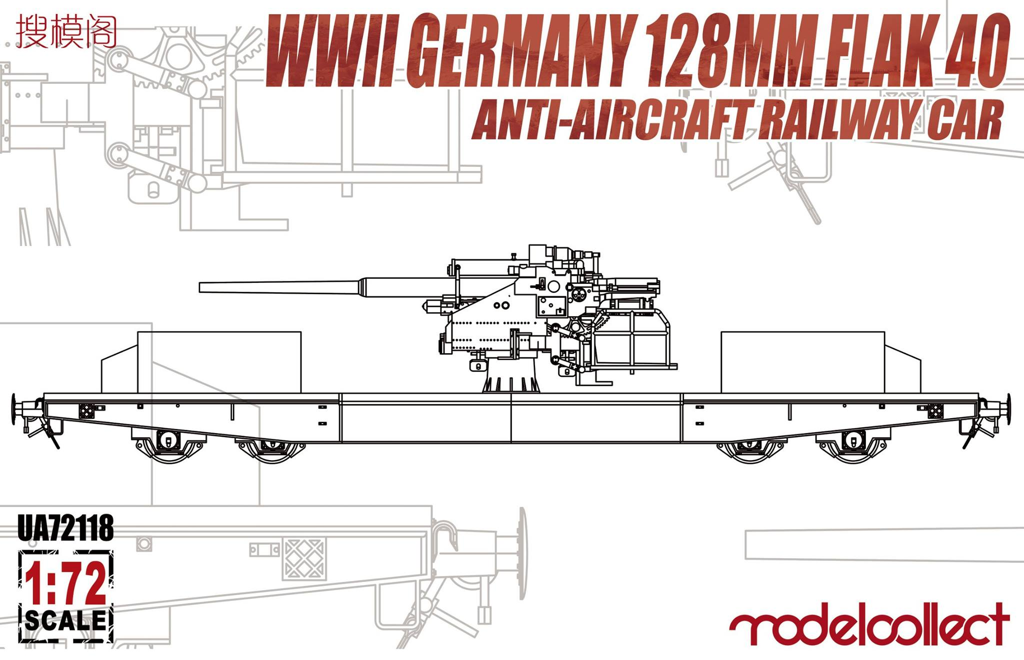 German 128mm Flak 40 Anti-Aircraft Railway Car