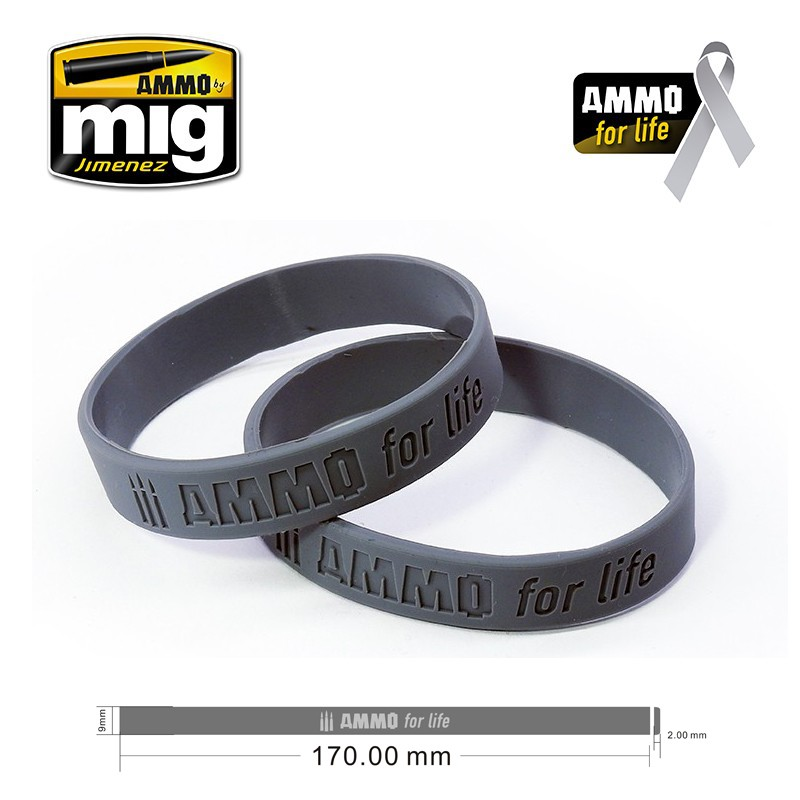 AMMO FOR LIFE: CANCER RESEARCH DONATION BRACELET (SMALL)