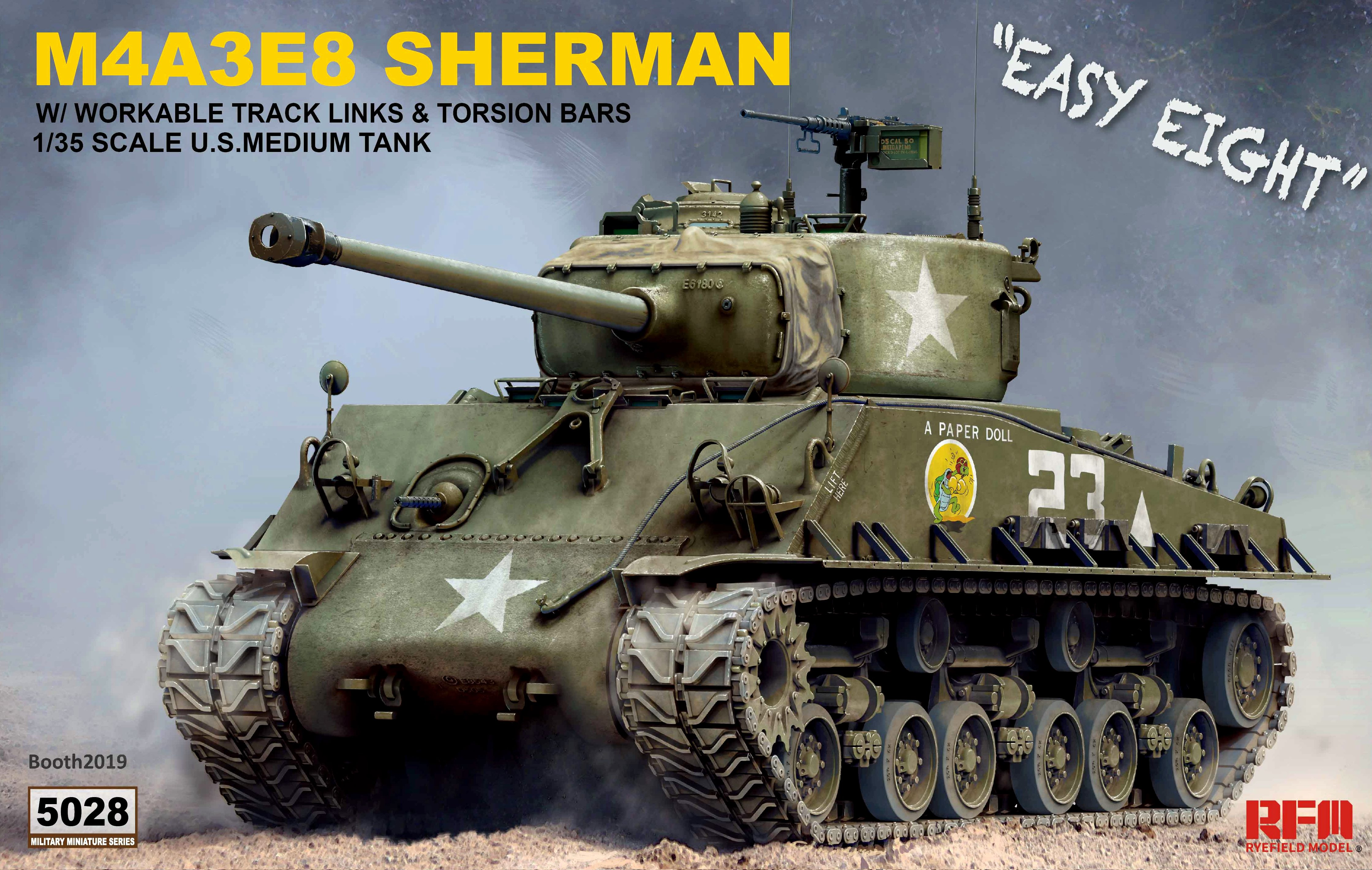 US Medium Tank M4A3E8 SHERMAN w/ Workable Tracks Links
