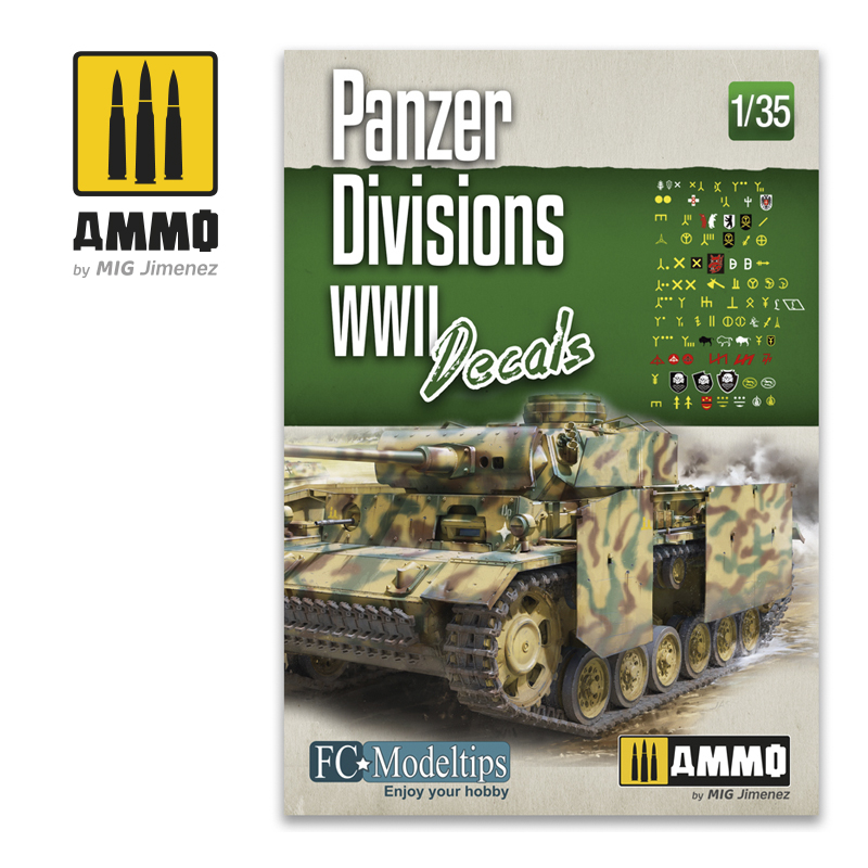 PANZER DIVISIONS WWII - DECALS 1/35