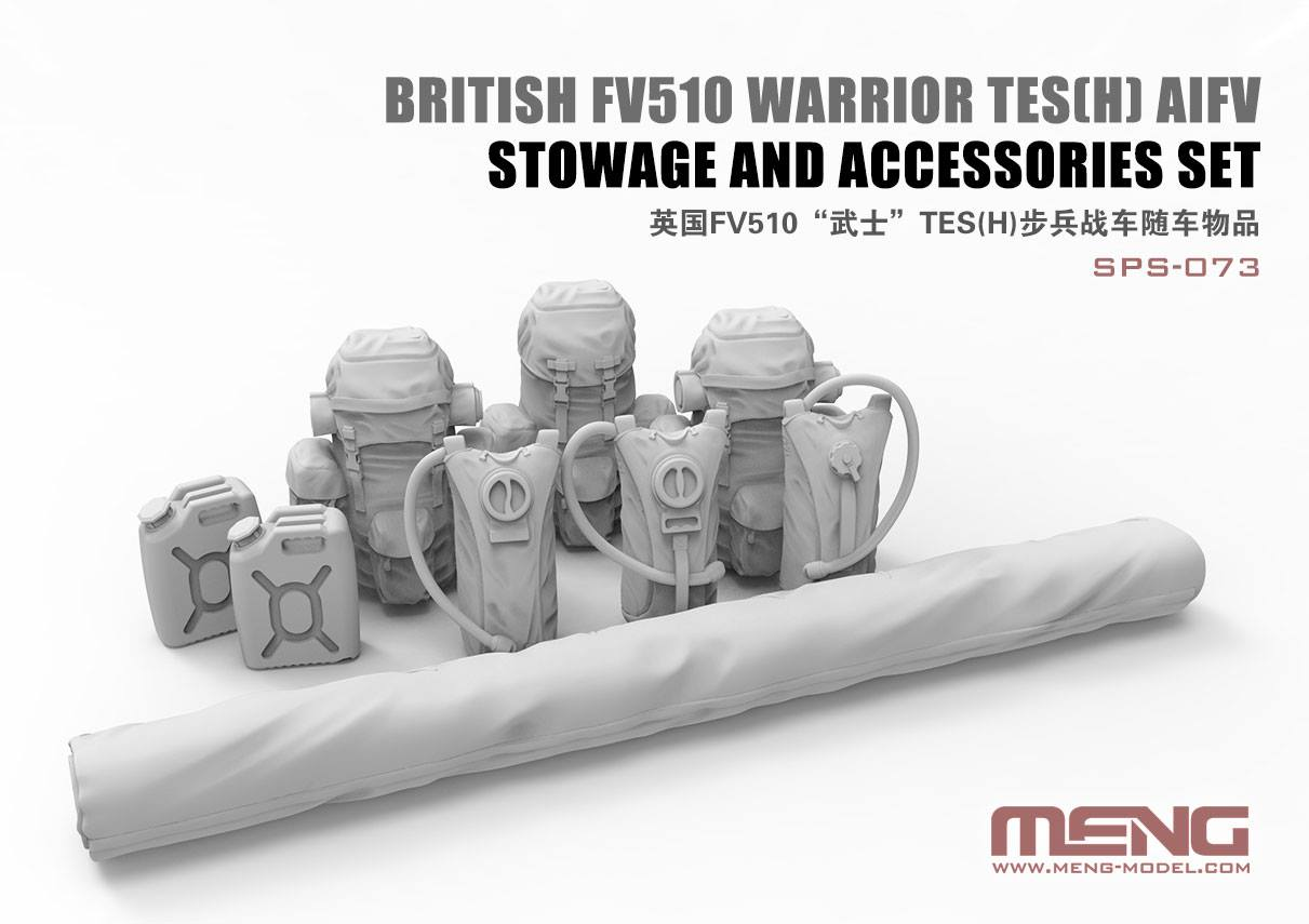 British FV510 Warrior TES(H) AIFV Stowage And Accessories Set (Resin)