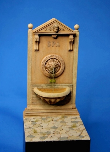 Wall Fountain incl. enamelled signs for 5 countries