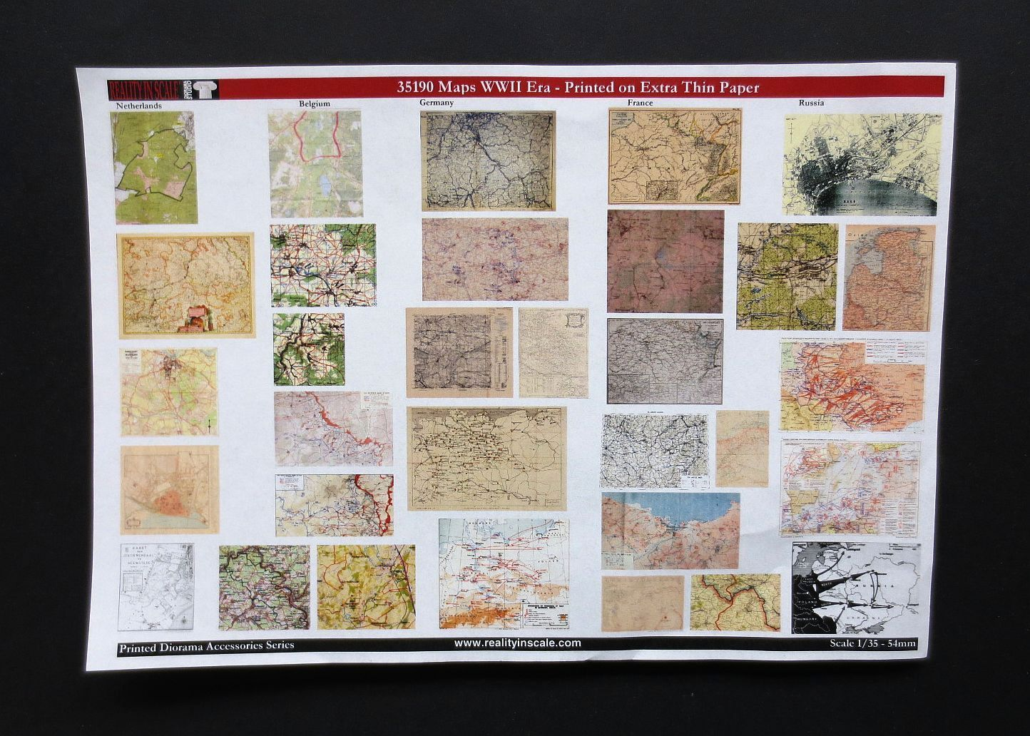 War Maps WWII - Set 2 (32ks)