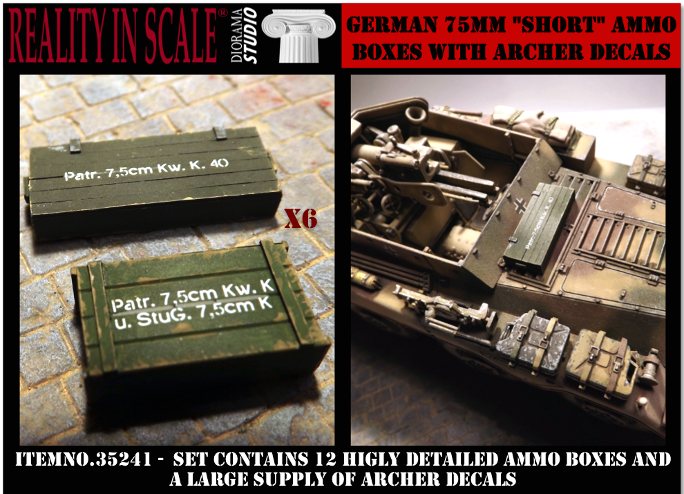 German 75mm Short ammo boxes (12ks)