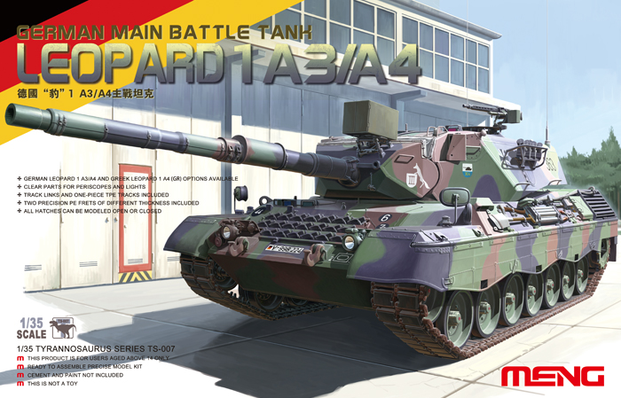 German Main Battle Tank Leopard 1 A3/A4