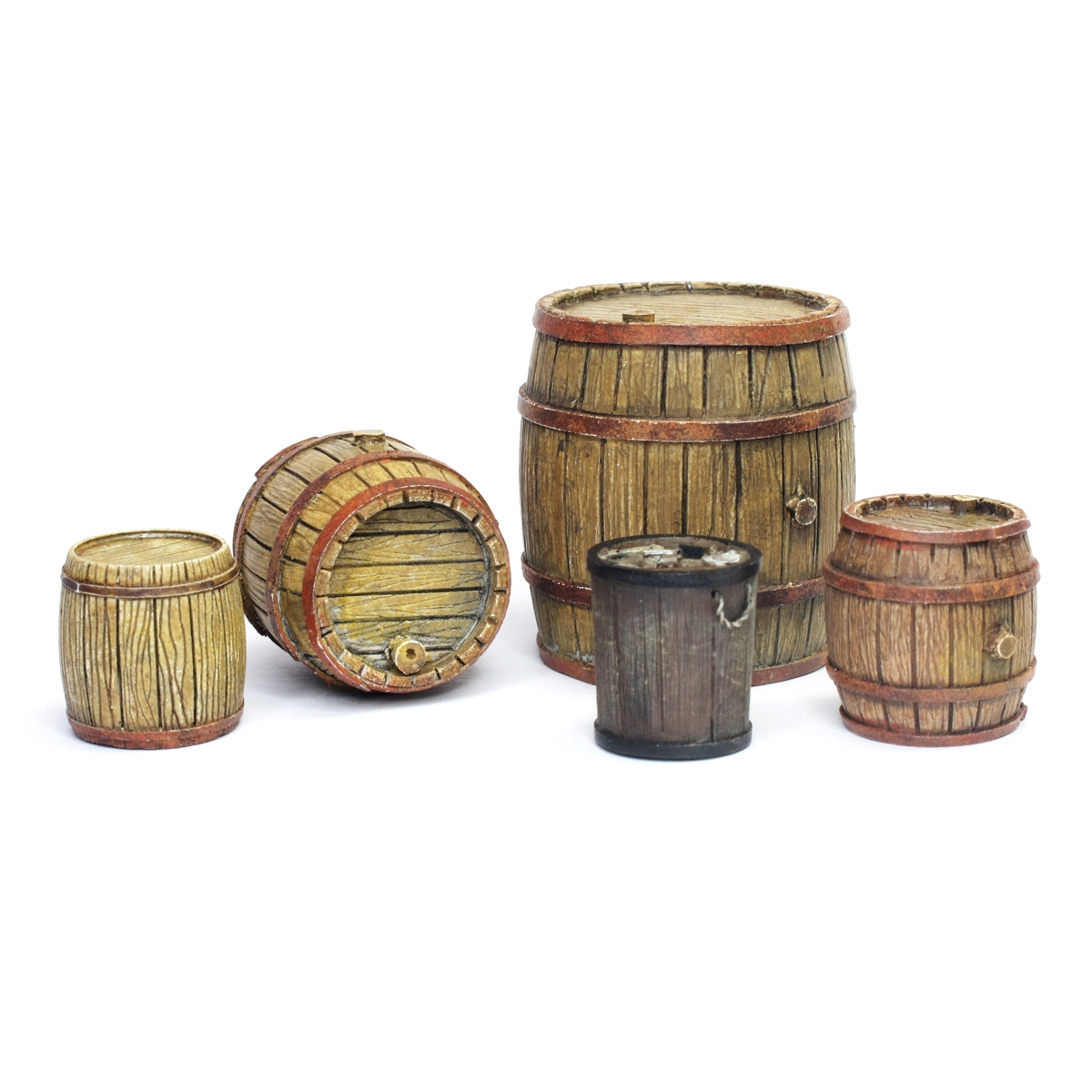 Wooden Barrels (5 pcs.)