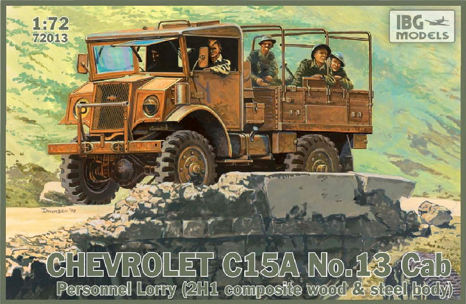 Chevrolet C15A, No.13 Cab Personnel Lorry (2H1 Composite wood & steel body)