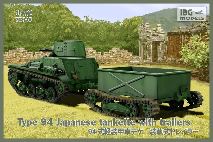 TYPE 94 Japanese Tankette, with trailers