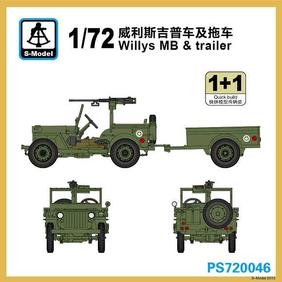 Willys MB & trailer - 2ks