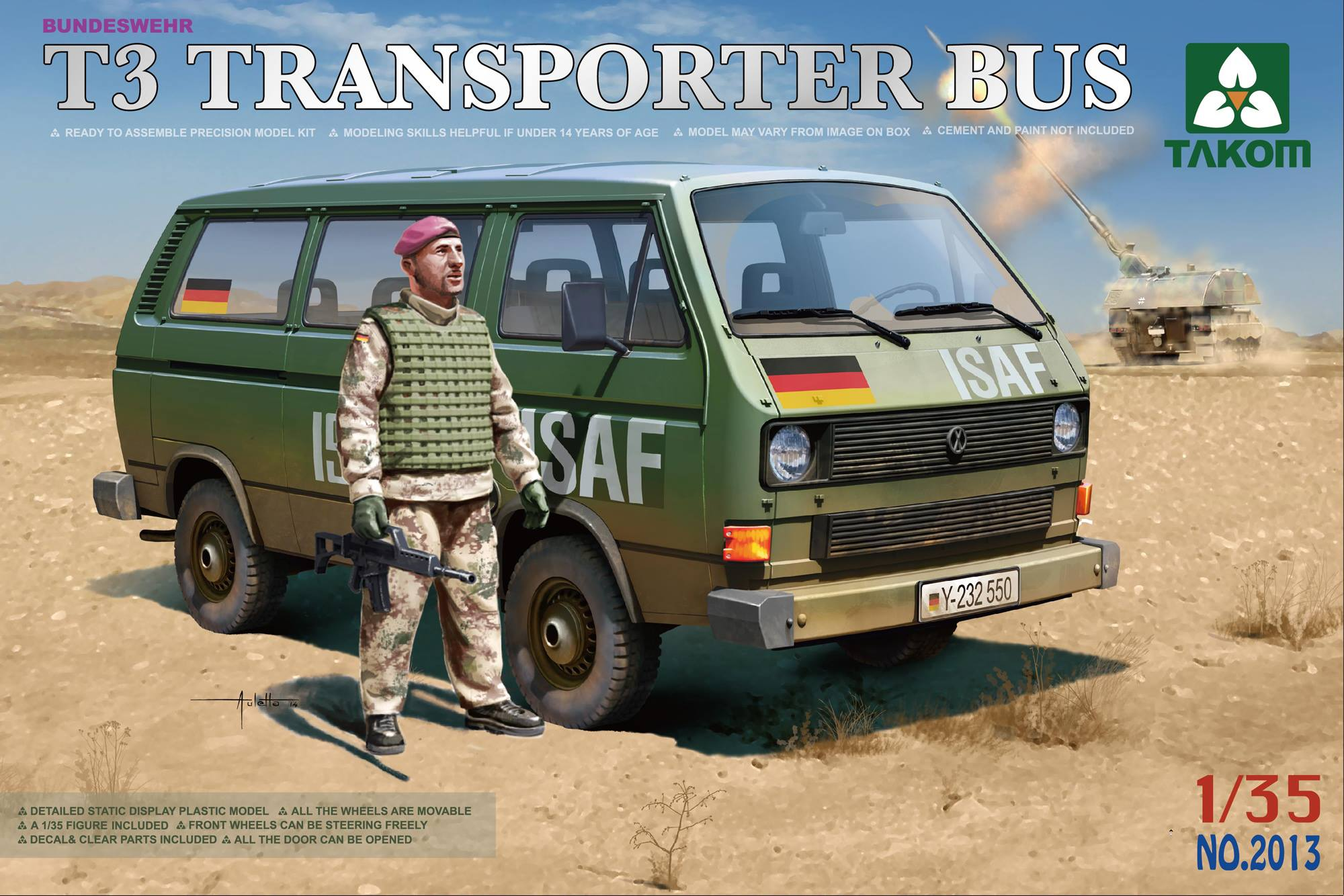 Bundeswehr T3 Transporter Bus (with figure)