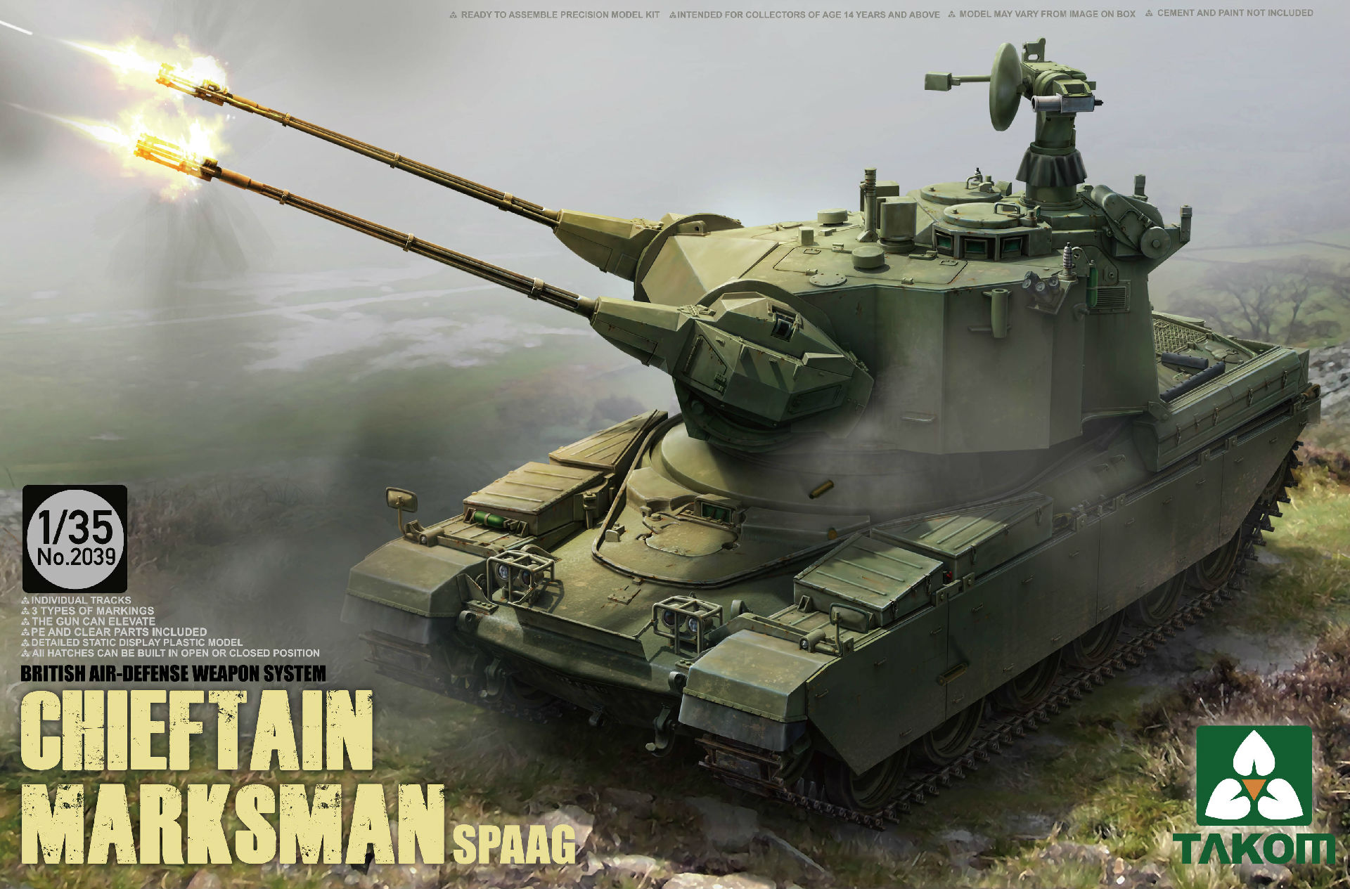 British Air-defense Weapon System Chieftain Marksman SPAAG