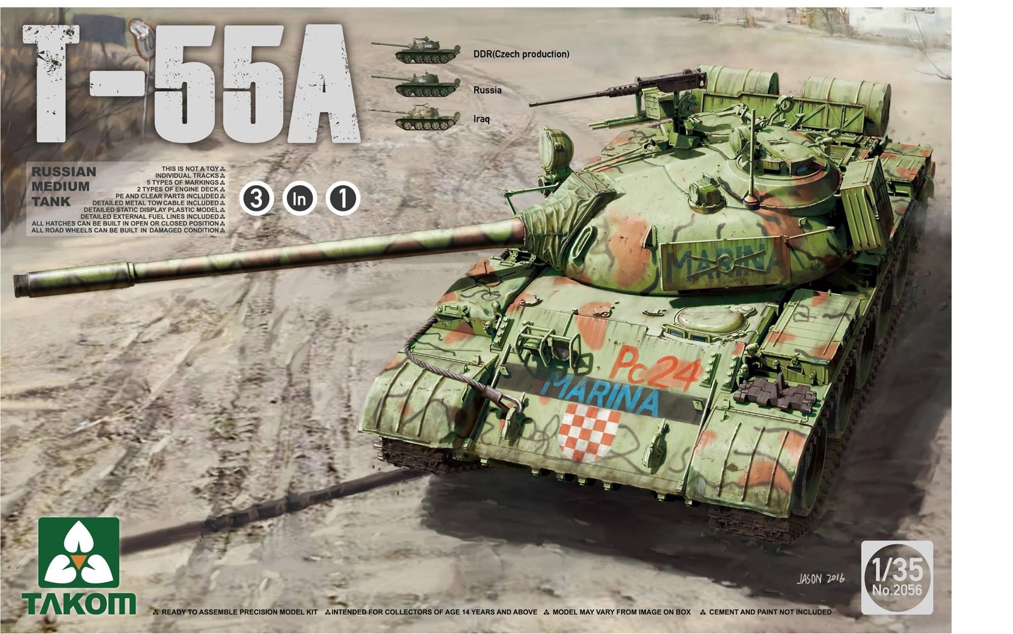 Russian Medium Tank T-55 A (3 in 1)