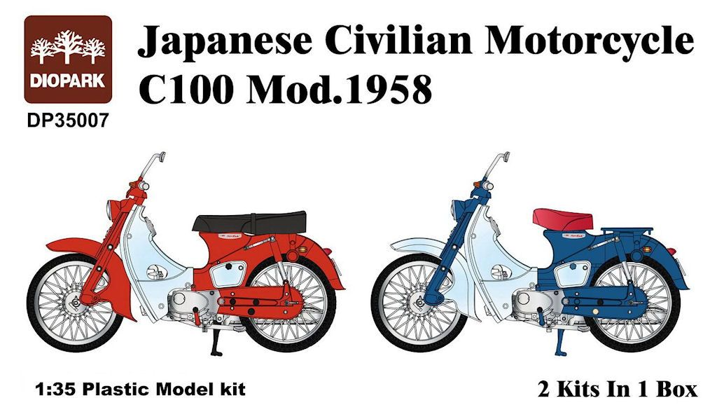 Honda C-100 Motorcycle (2 kits in box)