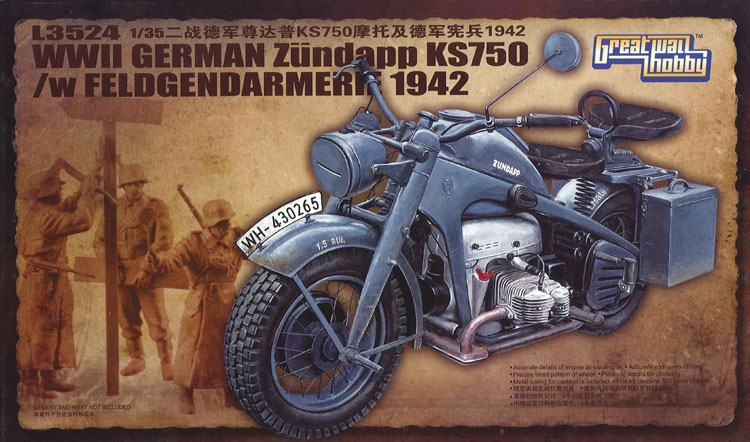WWII German Zündapp KS 750 with Feldgendarmerie 1942