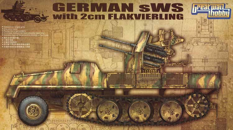 WWII German sWS with 2cm Flakvierling