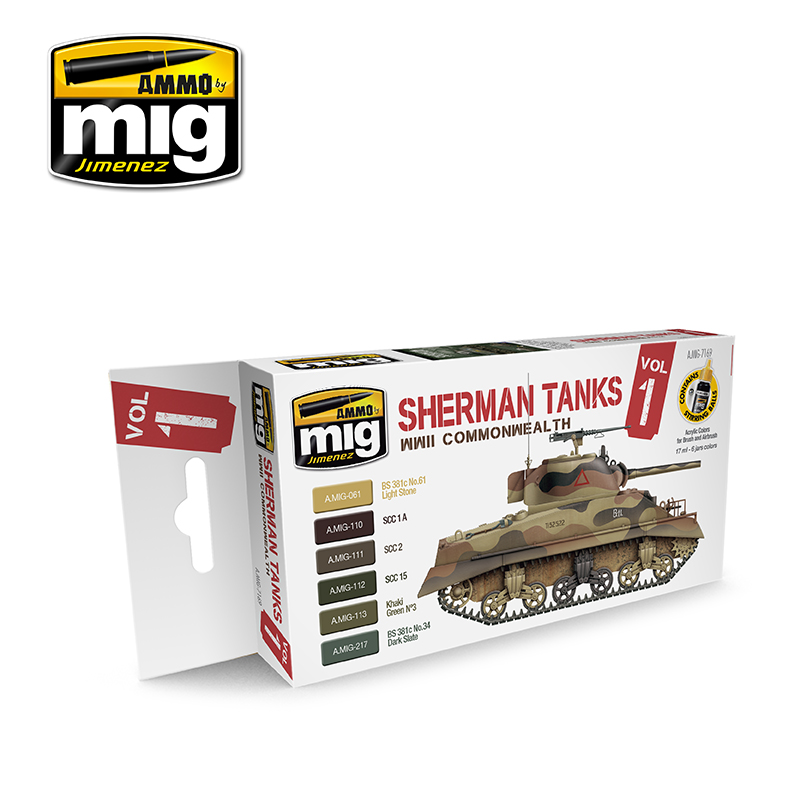 Set Sherman Tanks Vol. 1 (WWII Commonwealth)