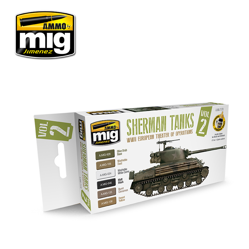 Set Sherman Tanks Vol. 2 (WWII European Theater of Operations)