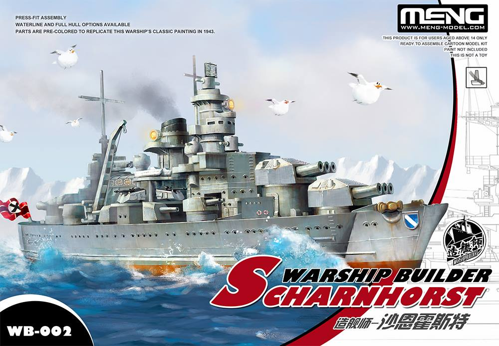 Warship Builder - Scharnhorst (Cartoon model)