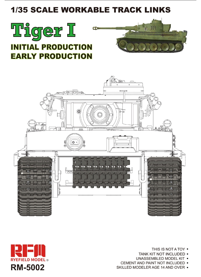 Workable Tracks for Tiger I - Initial / Early Production