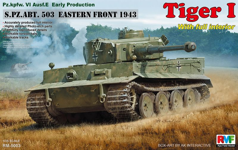 Tiger I Early Production w/Full Interior