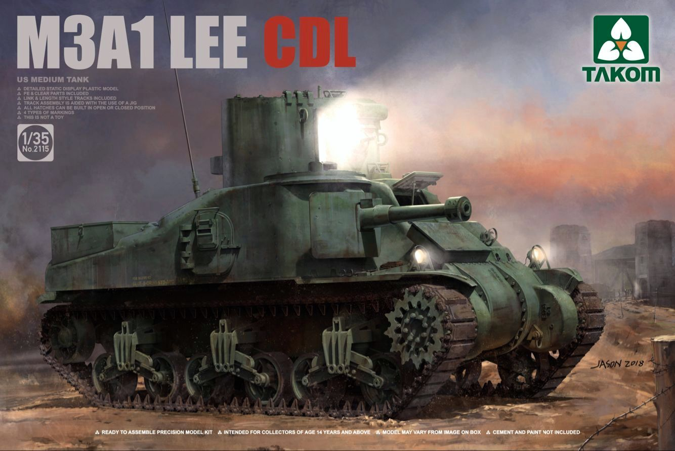 US medium tank M3A1 Lee CDL