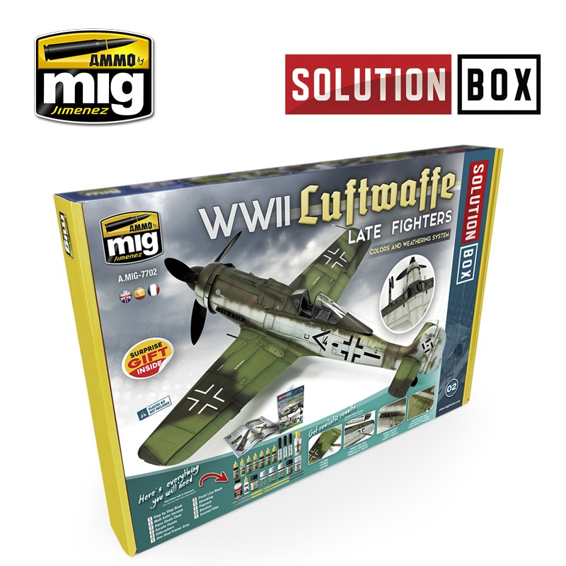 WWII LUFTWAFFE LATE FIGHTERS SOLUTION BOX
