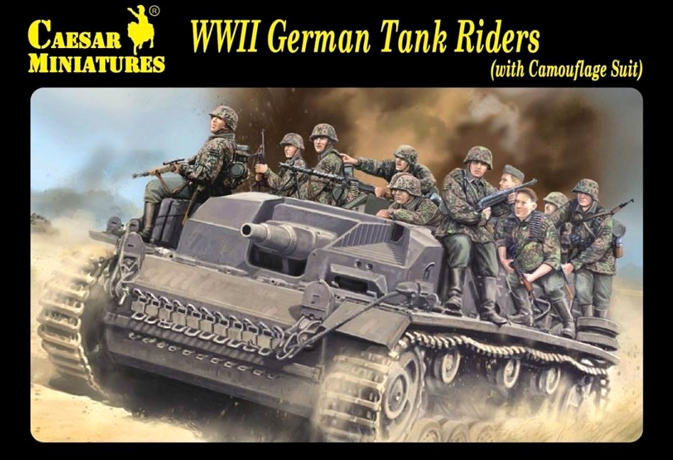 WWII German Tank Riders (with Camouflage Suit)