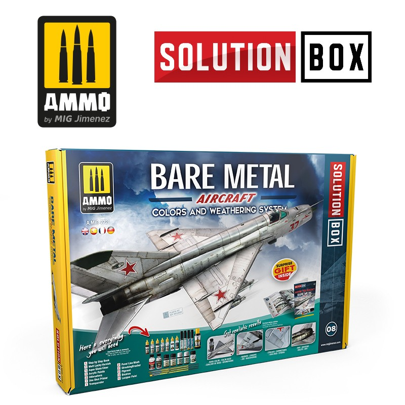 BARE METAL AIRCRAFT COLORS AND WEATHERING SOLUTION BOX