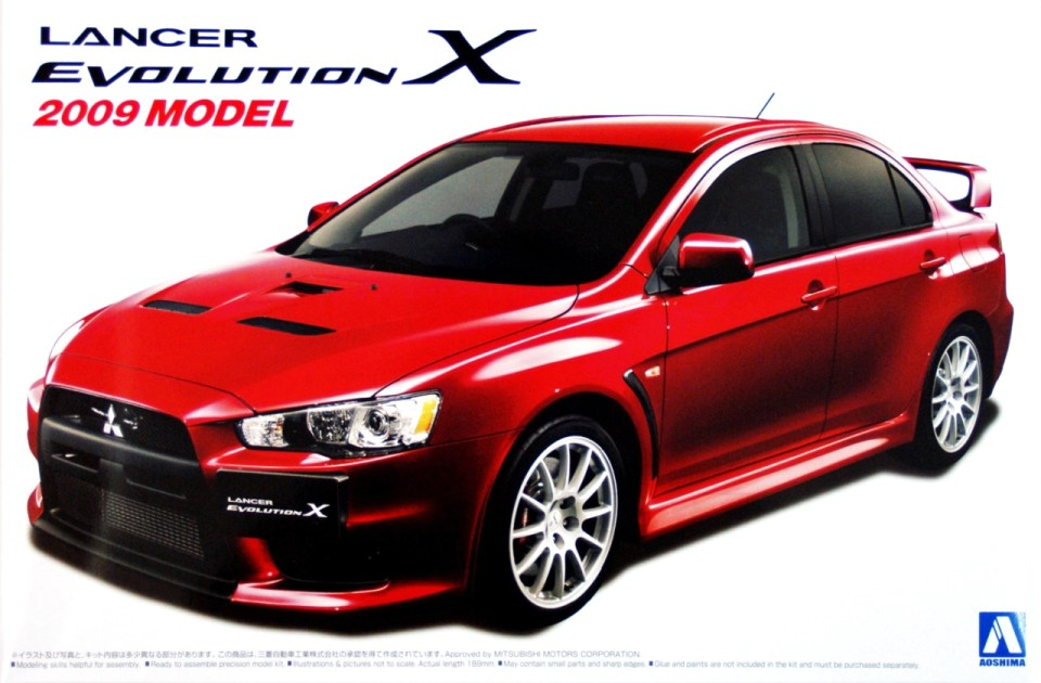 Mitsubishi Lancer Evolution X 2009 model