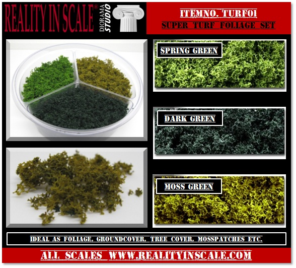 Super Turf Foliage Set - set of 3 colours