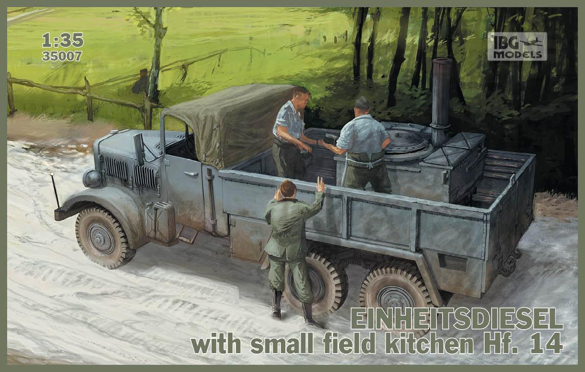 Einheitsdiesel with small field kitchen Hf. 14