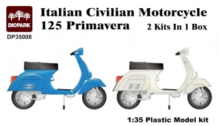 Italian Civilian Motorcycle Vespa 125 Primavera (2 kits in box)