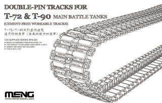 Double-Pin Tracks for T-72 & T-90 Main Battle Tanks (Cement-Free)