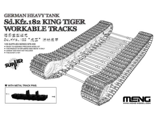 German Heavy Tank Sd.Kfz.182 King Tiger Workable Tracks