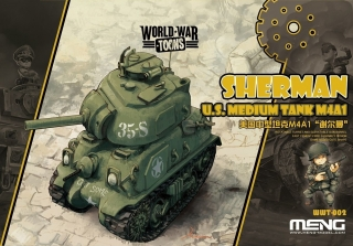 U.S. Medium Tank M4A1 Sherman (Cartoon model)