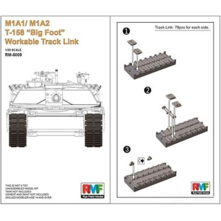 "M1A1 / M1A2 T-158 ""Big Foot"" Workable Track Link"