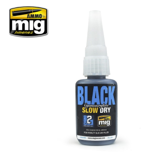 BLACK SLOW DRY CYANOACRYLATE