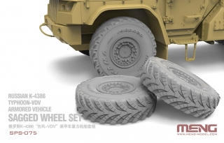 Russian K-4386 Typhoon-VDV Sagged Wheel Set (Resin)