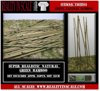 Natural Bamboo set - medium green