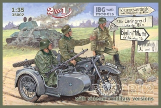 BMW R12 with sidecar - military versions